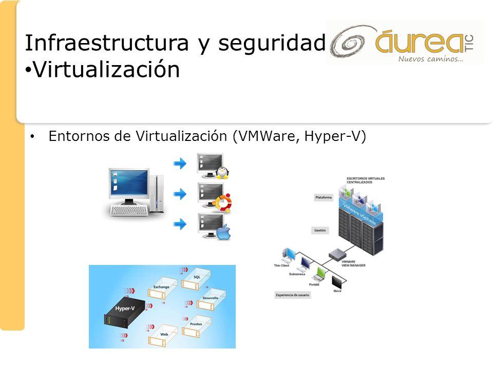 Entornos de Virtualización (VMWare, Hyper-V) Infraestructura y seguridad Virtualización