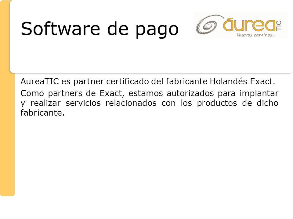 AureaTIC es partner certificado del fabricante Holandés Exact. Como partners de Exact, estamos autorizados para implantar y realizar servicios relacio
