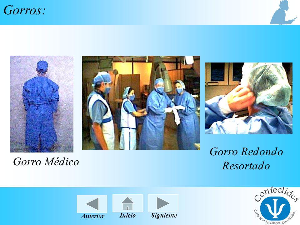 InicioAnteriorSiguiente Gorros: Gorro Médico Gorro Redondo Resortado InicioSiguienteAnterior