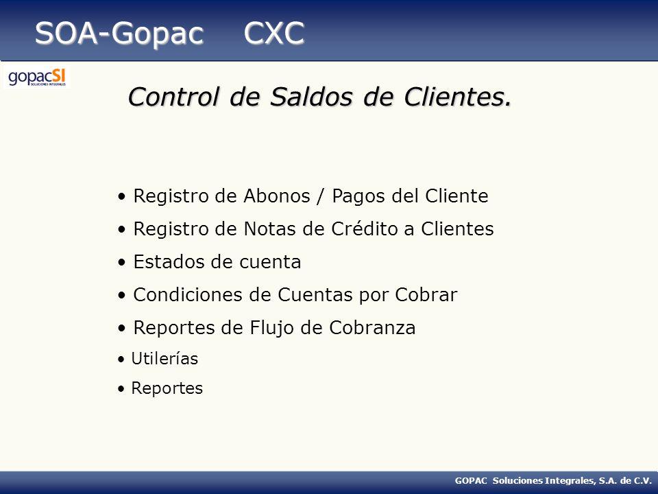 GOPAC Soluciones Integrales, S.A.de C.V. SOA-Gopac CXC FACTURA No.