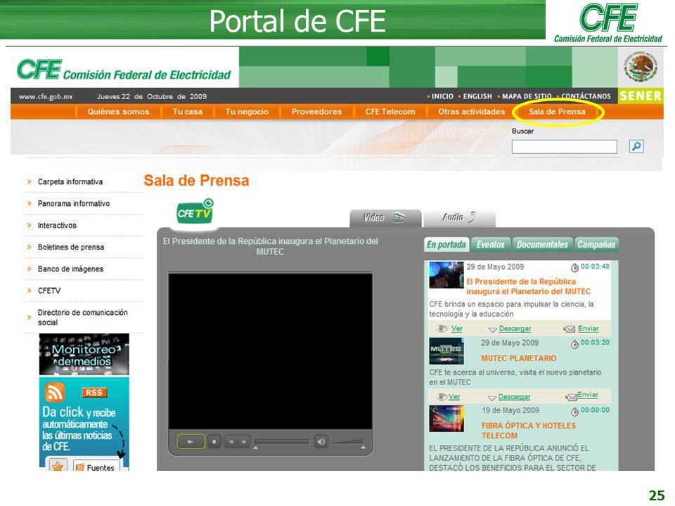 25 Portal de CFE Quiénes somos