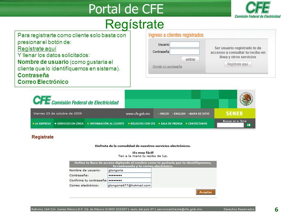 17 Portal de CFE -Información al cliente - Normas de distribución - Conoce tu recibo - ¿Cómo leer el medidor.