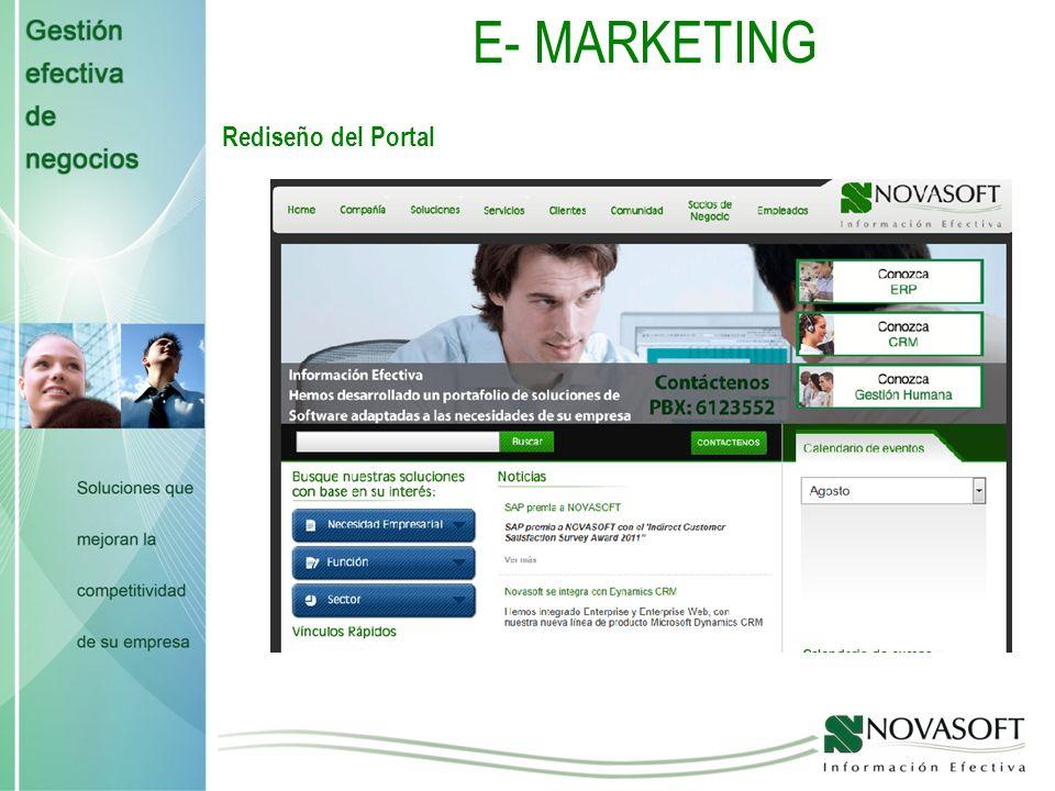 E- MARKETING Rediseño del Portal