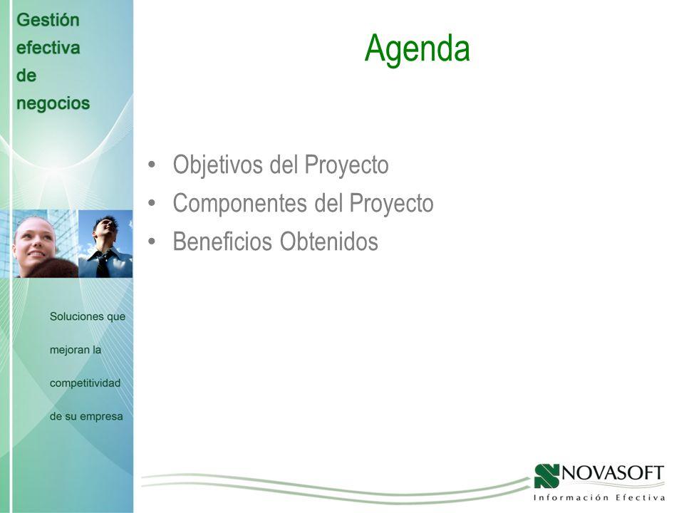 Agenda Objetivos del Proyecto Componentes del Proyecto Beneficios Obtenidos
