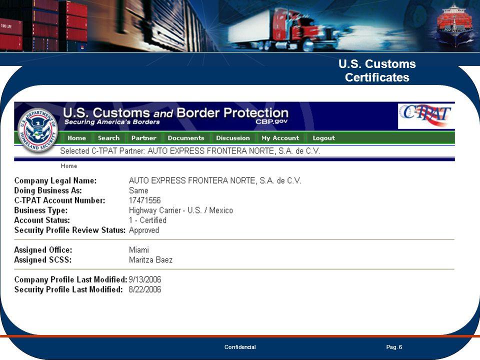 ConfidencialPag. 17 Clientes de Exportación