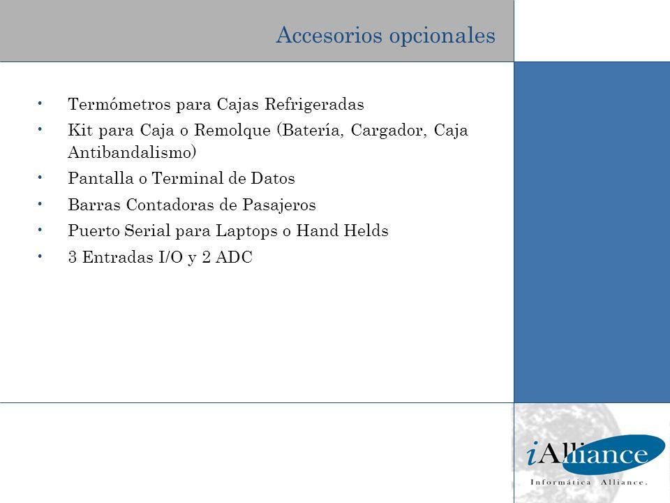 Termómetros para Cajas Refrigeradas Kit para Caja o Remolque (Batería, Cargador, Caja Antibandalismo) Pantalla o Terminal de Datos Barras Contadoras d