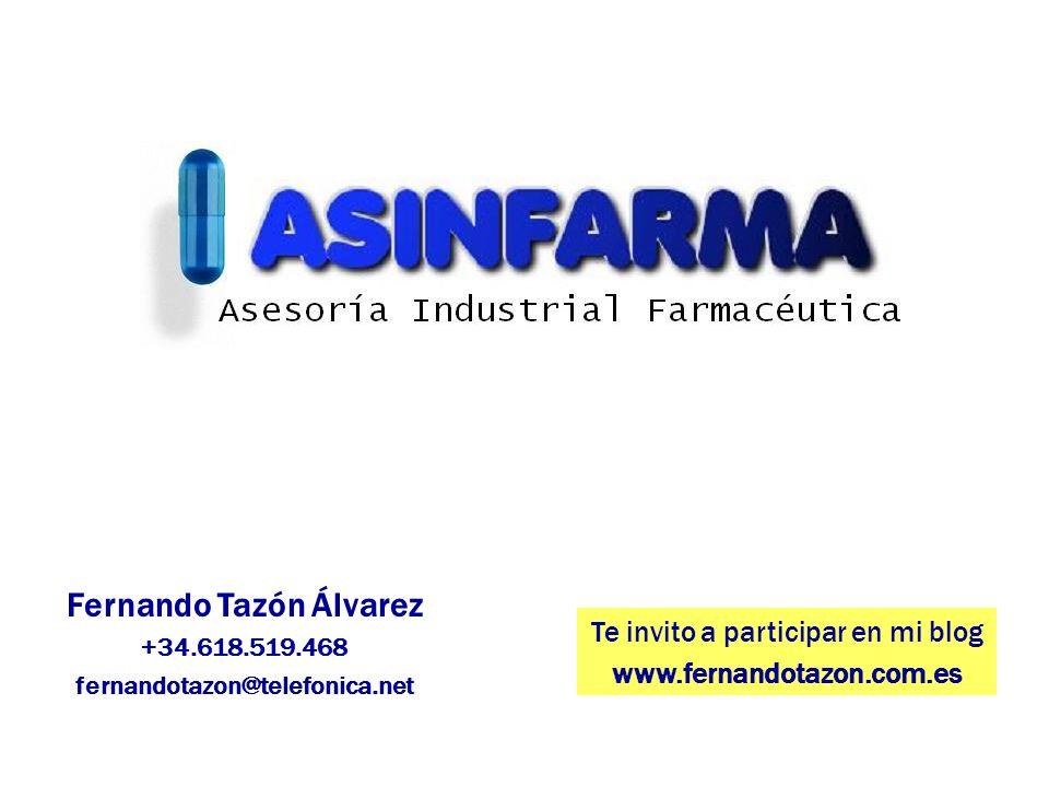 Fernando Tazón Álvarez +34.618.519.468 fernandotazon@telefonica.net Te invito a participar en mi blog www.fernandotazon.com.es