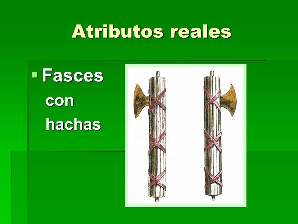 Atributos reales Fasces Fascesconhachas