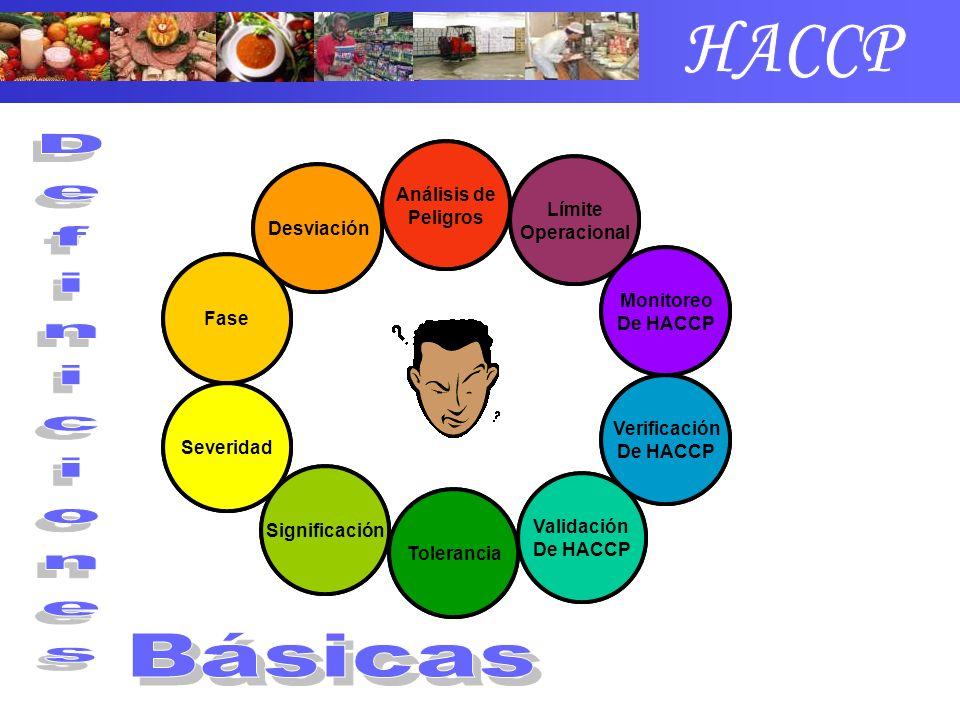 Inocuidad de Alimentos Peligro Riesgo Punto de Control Equipo HACCP Plan HACCP Medidas Preventivas Medidas Correctivas Límite Crítico Punto de Control