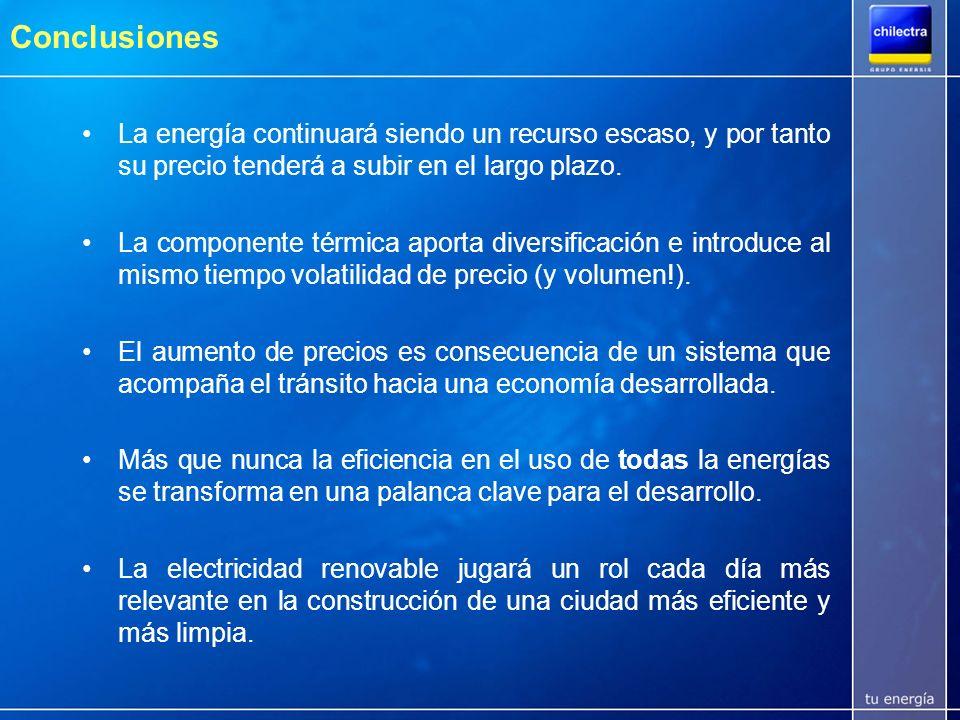 Agenda Situación de abastecimiento del SIC –Alternativas de generación –Comparación años 2005 y 1999 –Proyección abastecimiento 2006-2010 Modificación a la Ley Eléctrica –Principales cambios –Efectos en los precios Chilectra y los cambios en el mercado no regulado