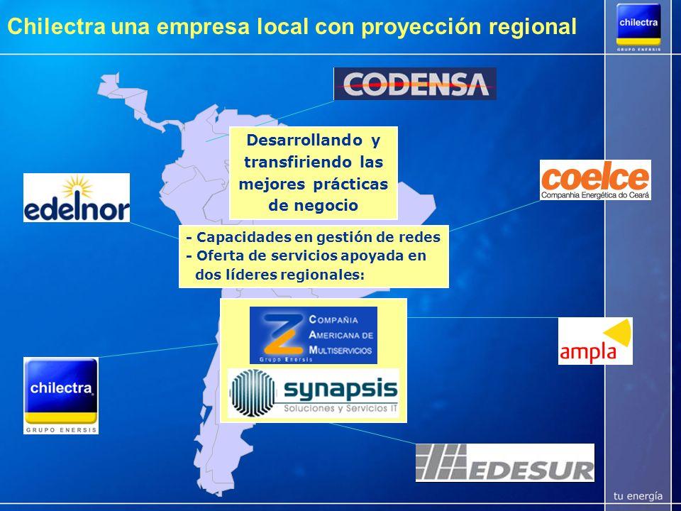 Chilectra y su compromiso con Santiago Gastos e Inversiones por ~180 MMUSD/año Inversiones por 770 MM USD en los últimos 12 años Inversión anual en MMUSD