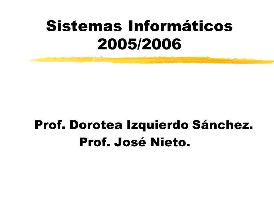 Sistemas Informáticos 2005/2006 Prof. Dorotea Izquierdo Sánchez. Prof. José Nieto.