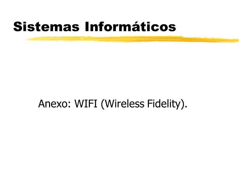 Sistemas Informáticos Anexo: WIFI (Wireless Fidelity).