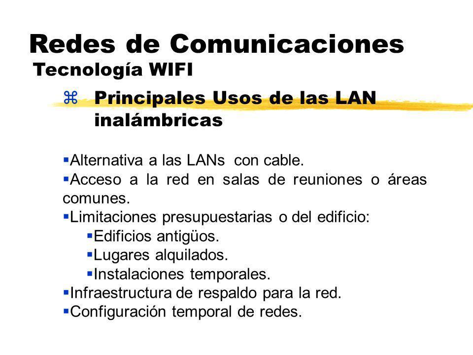 zPrincipales Usos de las LAN inalámbricas Redes de Comunicaciones Tecnología WIFI Alternativa a las LANs con cable.