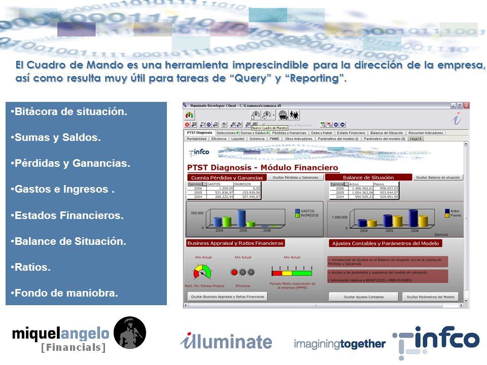 El Cuadro de Mando es una herramienta imprescindible para la dirección de la empresa, así como resulta muy útil para tareas de Query y Reporting.