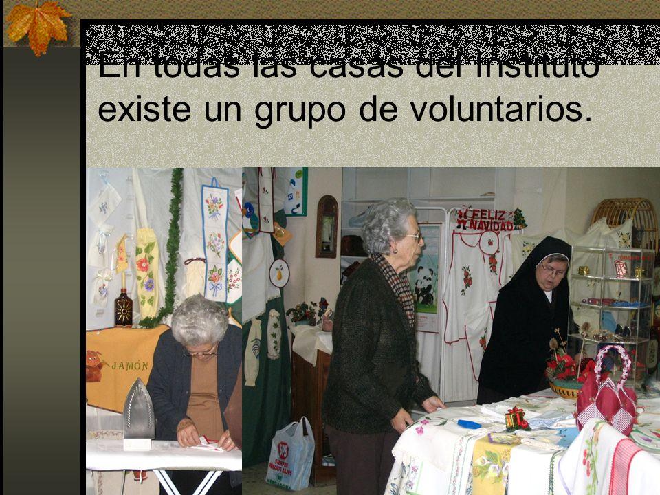 En todas las casas del Instituto existe un grupo de voluntarios.