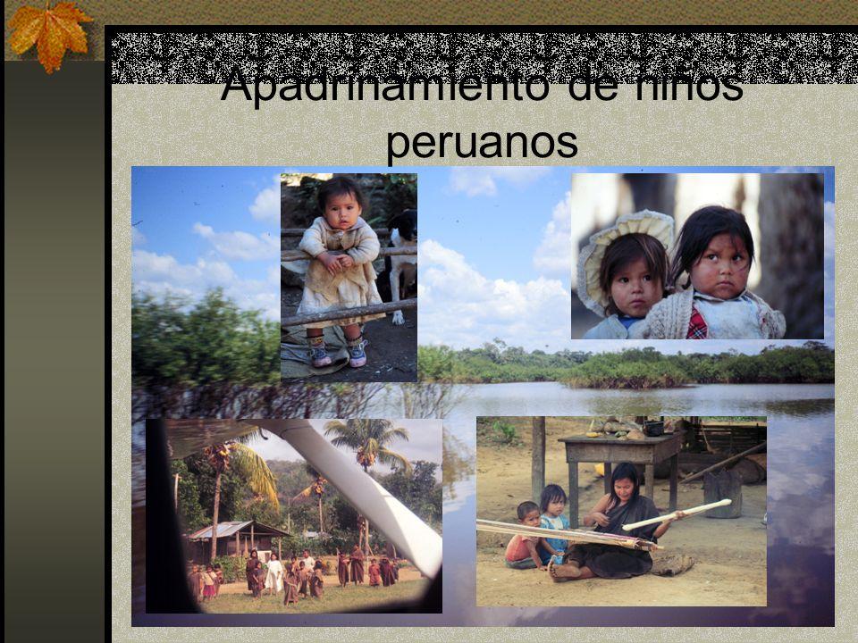 Apadrinamiento de niños peruanos