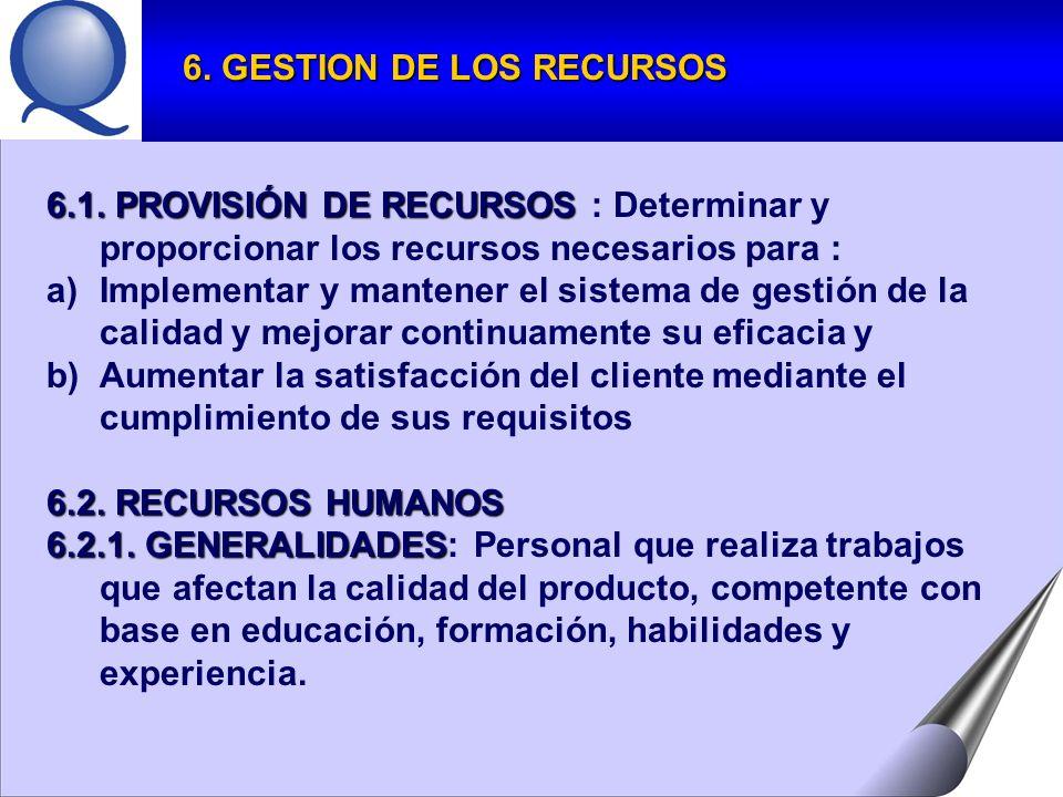 6.1.PROVISIÓN DE RECURSOS 6.1.