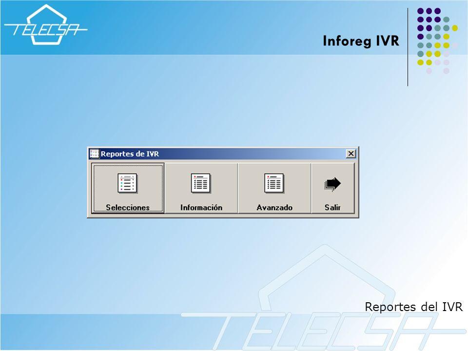 Reportes del IVR Inforeg IVR