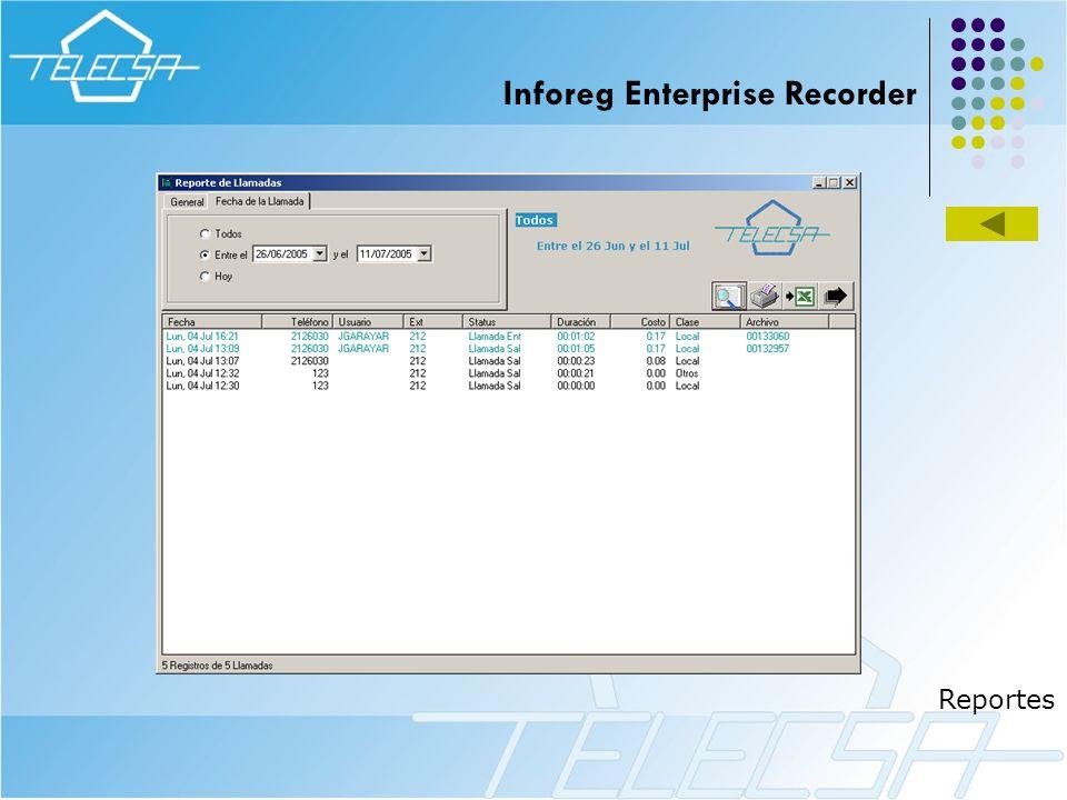 Reportes Inforeg Enterprise Recorder