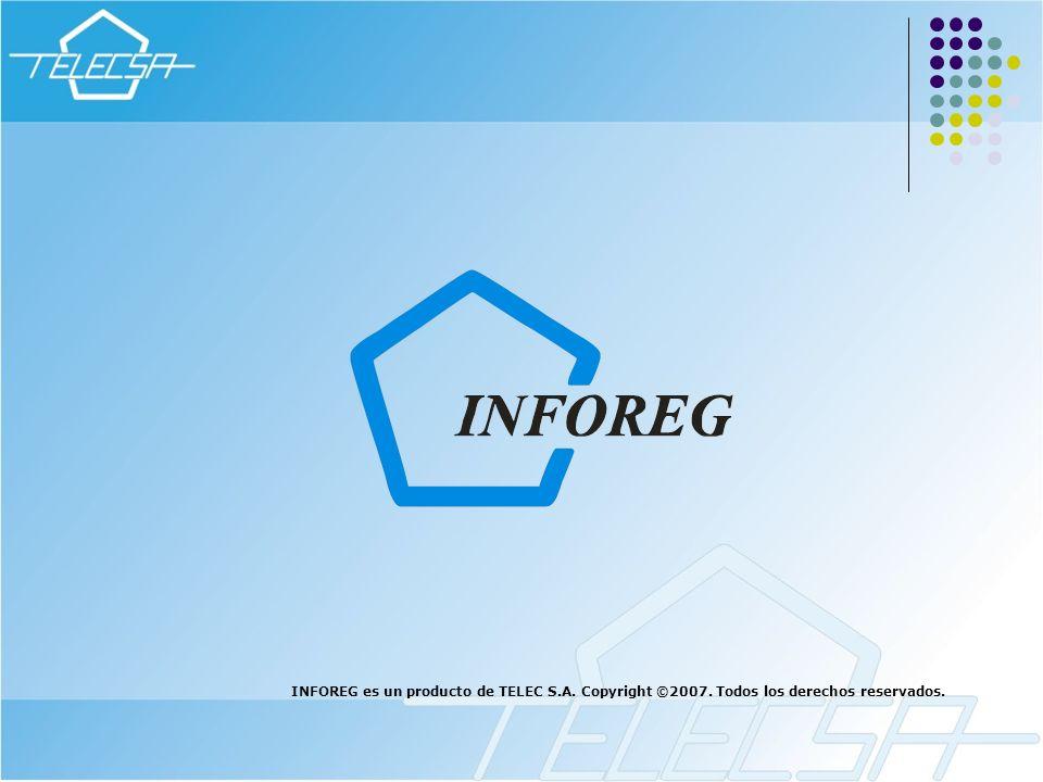 INFOREG es un producto de TELEC S.A. Copyright ©2007. Todos los derechos reservados.