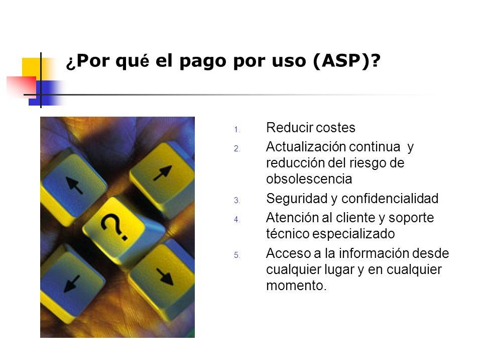 1. Reducir costes 2. Actualización continua y reducción del riesgo de obsolescencia 3.