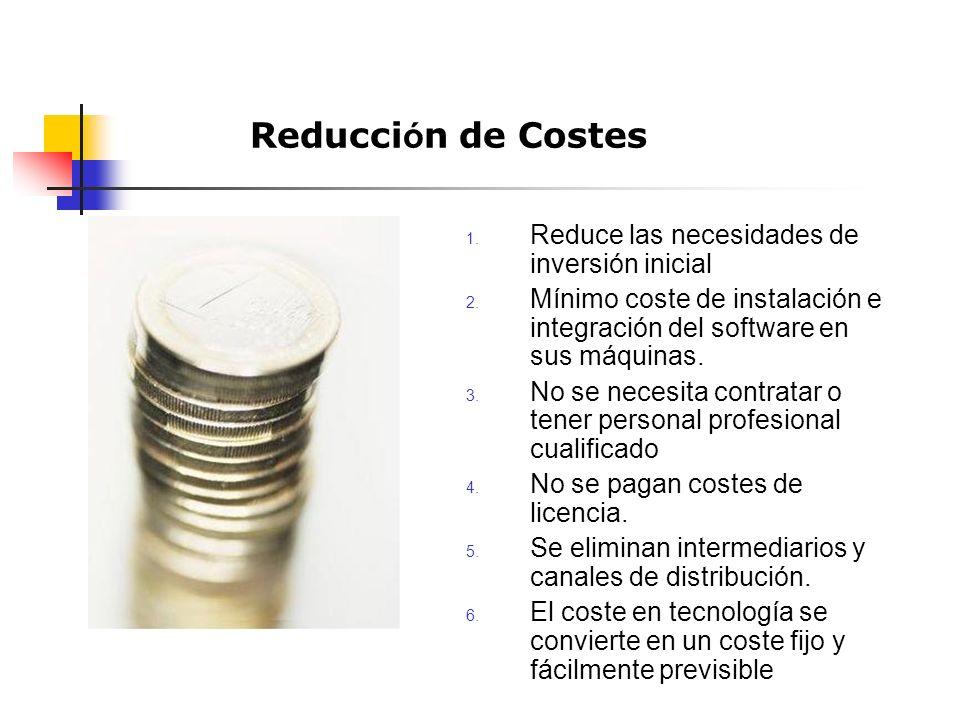 1. Reduce las necesidades de inversión inicial 2.