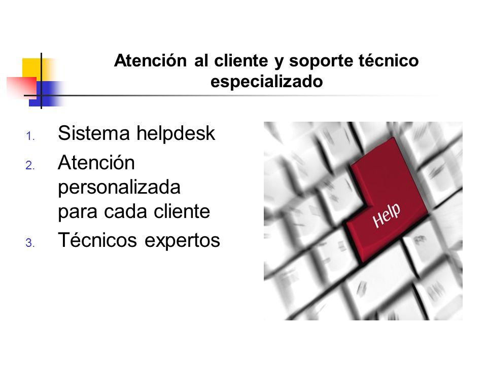Atención al cliente y soporte técnico especializado 1.