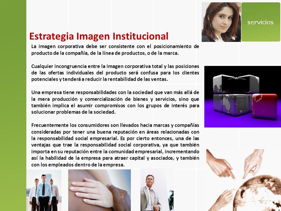 Estrategia Imagen Institucional ¿QUE SERVICIOS OFRECEMOS PARA DESARROLLARLA.