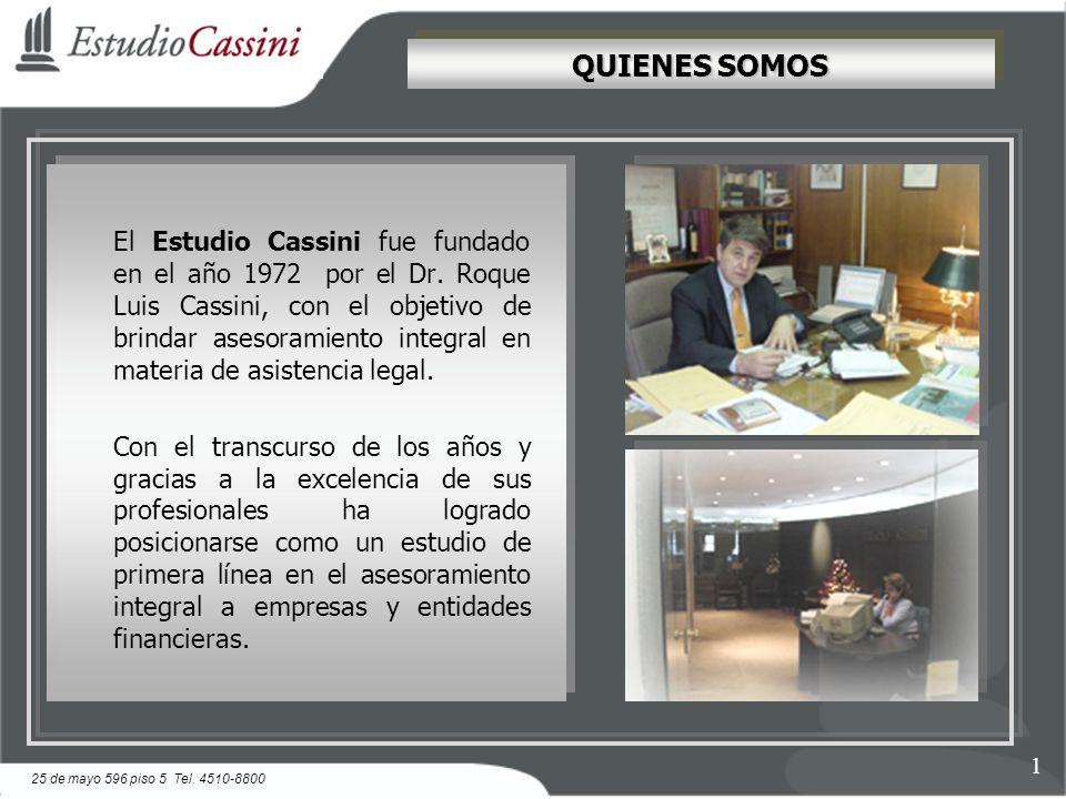 El Estudio Cassini fue fundado en el año 1972 por el Dr.