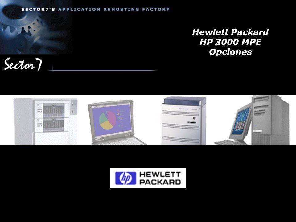 Hewlett Packard HP 3000 MPE Opciones
