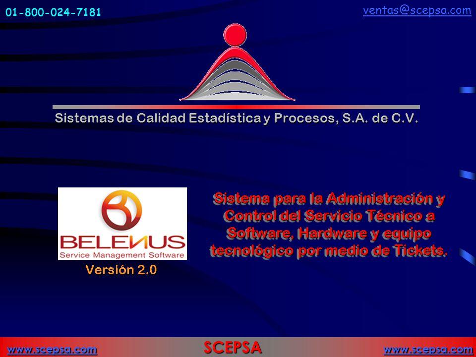 www.scepsa.comwww.scepsa.com SCEPSA www.scepsa.com www.scepsa.com Sistemas de Calidad Estadística y Procesos, S.A.