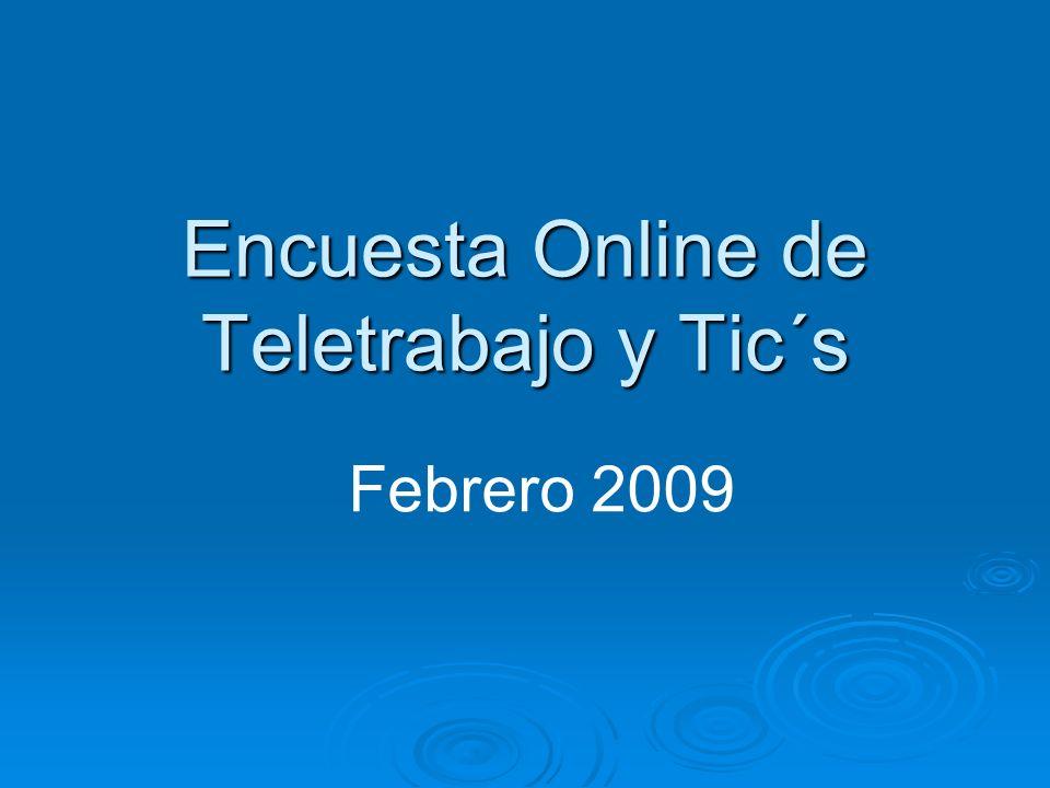 Encuesta Online de Teletrabajo y Tic´s Febrero 2009