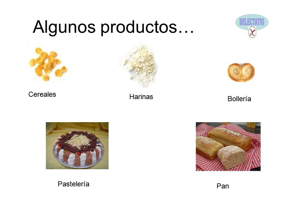 Algunos productos… Cereales Harinas Bollería Pastelería Pan Cereales Harinas Bollería Pastelería Pan