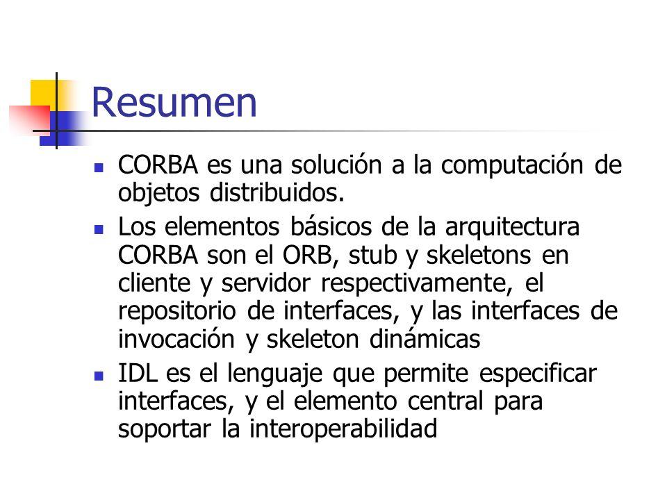 Interoperabilidad en CORBA: GIOP/IIOP