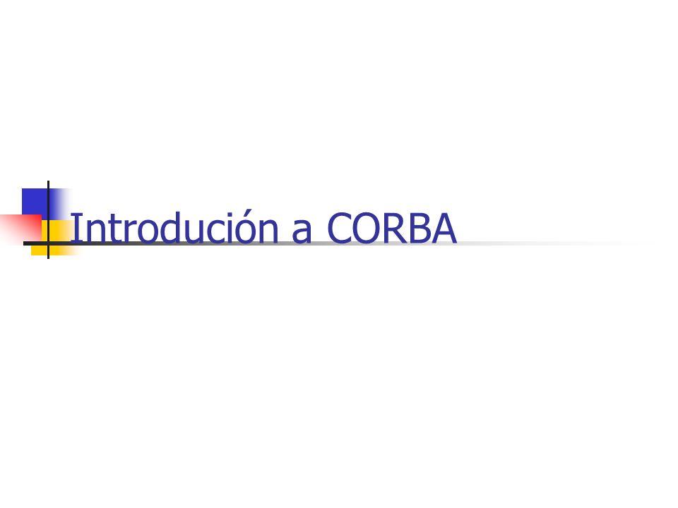 Resumen CORBA es una solución a la computación de objetos distribuidos. Los elementos básicos de la arquitectura CORBA son el ORB, stub y skeletons en