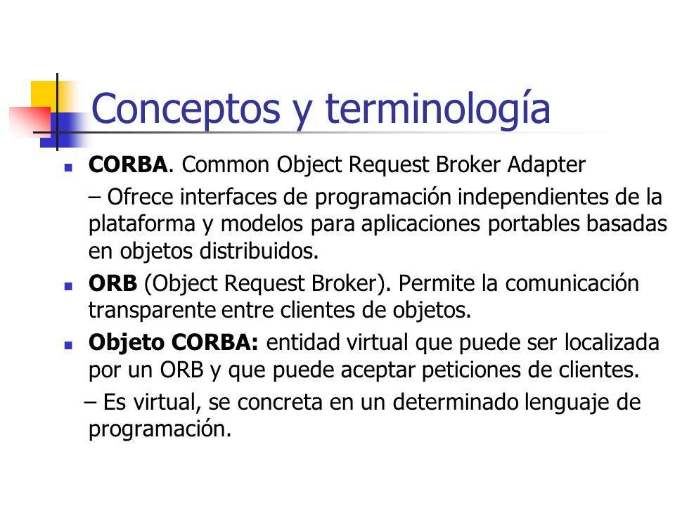 Conceptos y terminología CORBA.