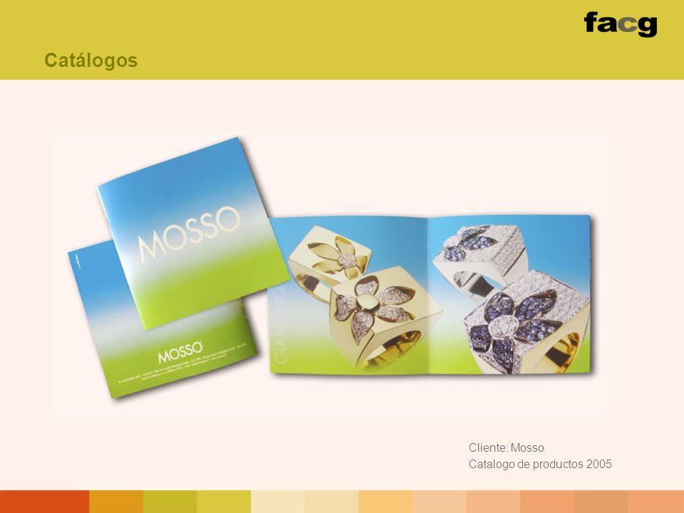 Cliente: Mosso Catalogo de productos 2005 Catálogos