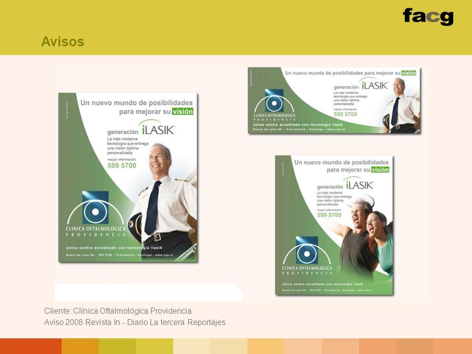 Cliente: Clínica Oftalmológica Providencia Aviso 2008 Revista In - Diario La tercera Reportajes Avisos