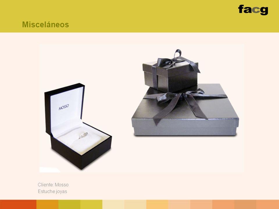 Cliente: Mosso Estuche joyas Misceláneos