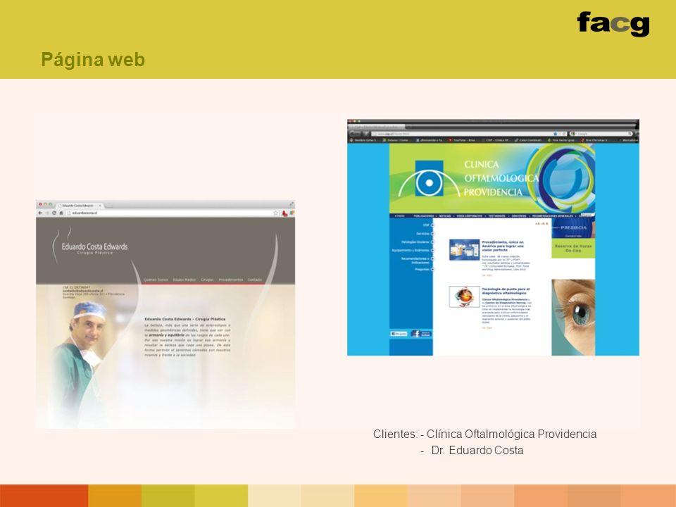 Clientes: - Clínica Oftalmológica Providencia - Dr. Eduardo Costa Página web