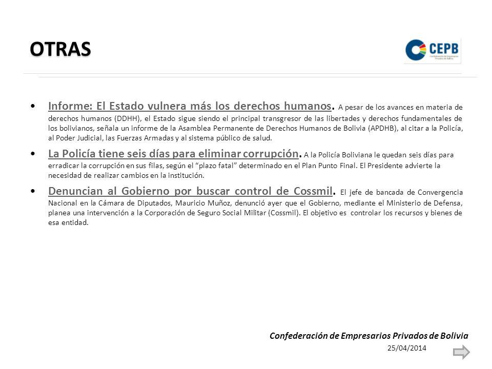 OTRAS Informe: El Estado vulnera más los derechos humanos.