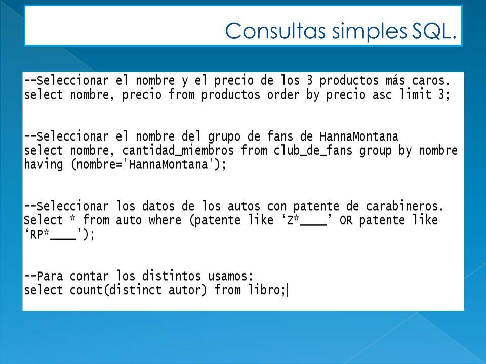 SELECT c.nombre, c.rut FROM cliente c WHERE c.rut<16000111; SELECT nombre, rut FROM cliente WHERE rut<16000111; =