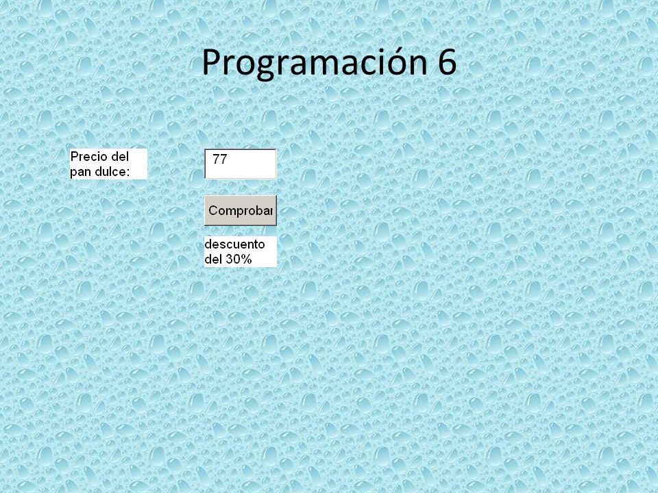 Programación 6