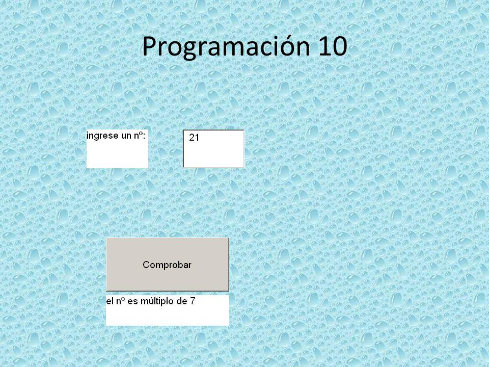 Programación 10