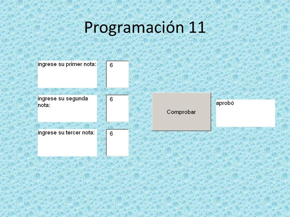 Programación 11