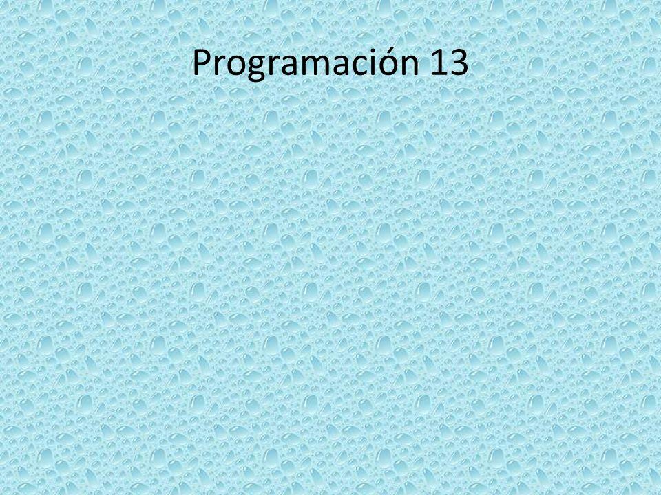 Programación 13