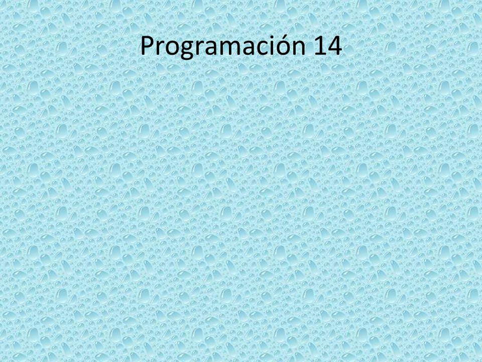 Programación 14