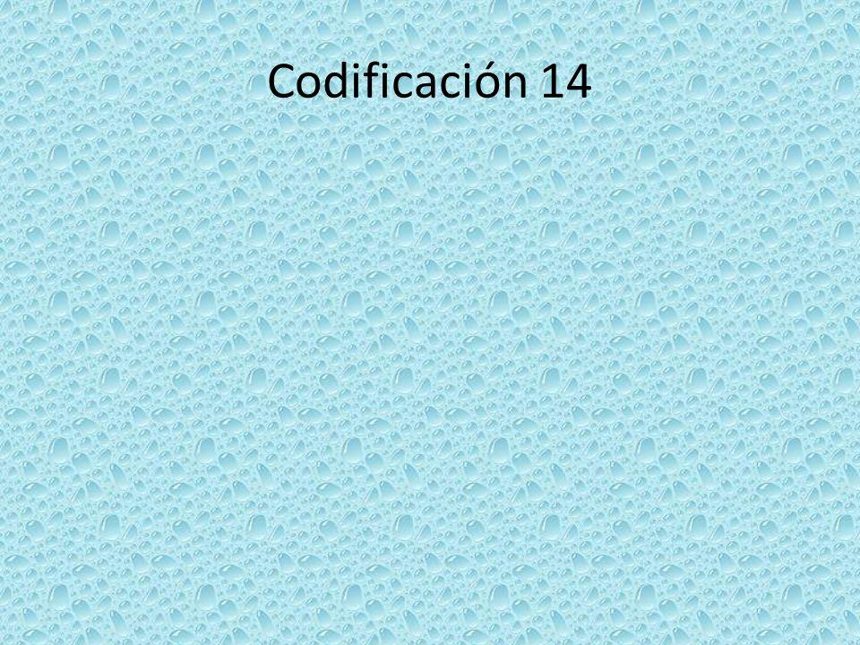 Codificación 14
