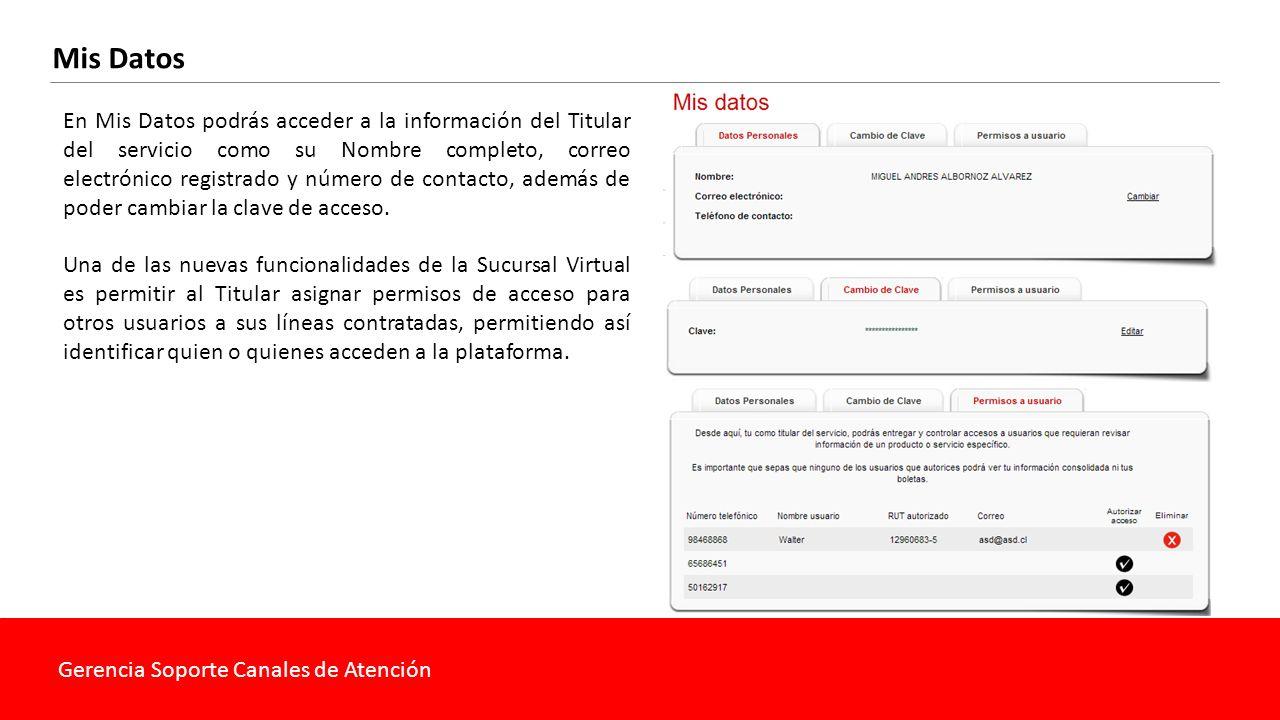 Gerencia Soporte Canales de Atención Otros Accesos La Nueva Sucursal Virtual también permite al cliente acceder a otros servicios como las plataformas de Chat, videos informativos y a los puntos de Claro Club.